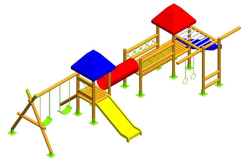 Parque infantil de madera alhena parque y grama - Parque infantil de madera ...