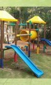 parque infantil de madera edificio Flamingo