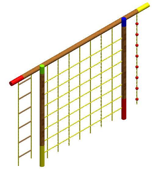 juegos infantiles en madera malla escaladora
