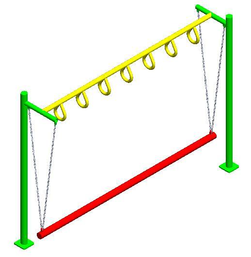 juegos infantiles pasamanos de equilibrio