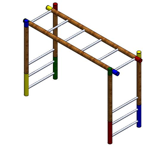 juegos infantiles en madera pasamanos