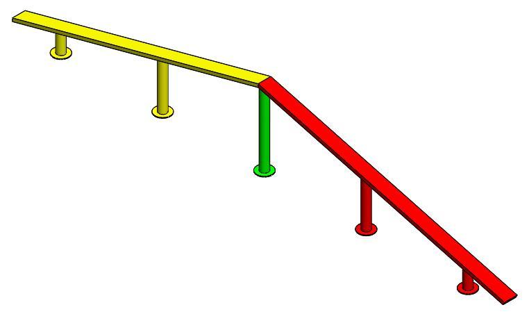juegos infantiles barra equilibrio recta