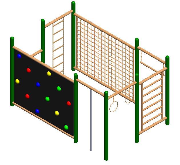 juegos infantiles trepador jaula