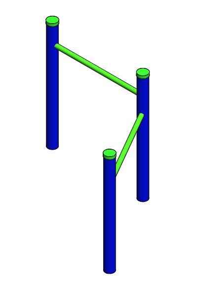 parque biosaludable barra horizontal flexiones tonificar brazos