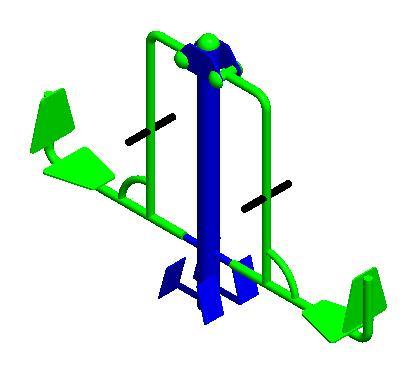Máquina biosaludable prensa horizontal piernas