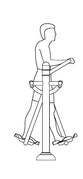 Uso correcto de patines máquinas biosaludables