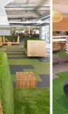 Decorar espacios interiores y exteriores con césped artificial