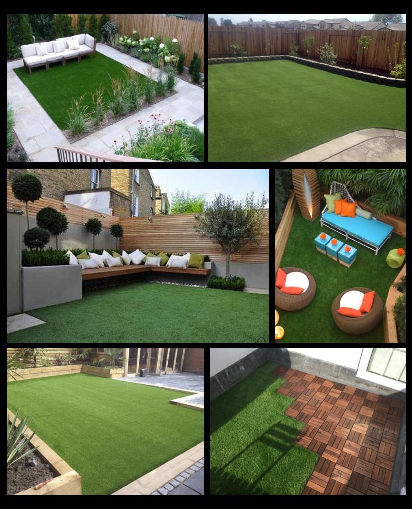 Ideas para decorar jardines con grama sintética