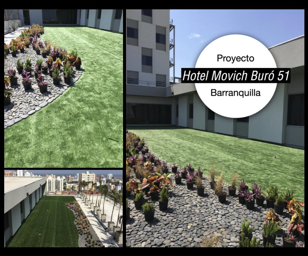 Hotel Movich Buró 51 Barranquilla Proyecto paisajismo