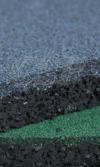 piso de caucho vaciado reciclado
