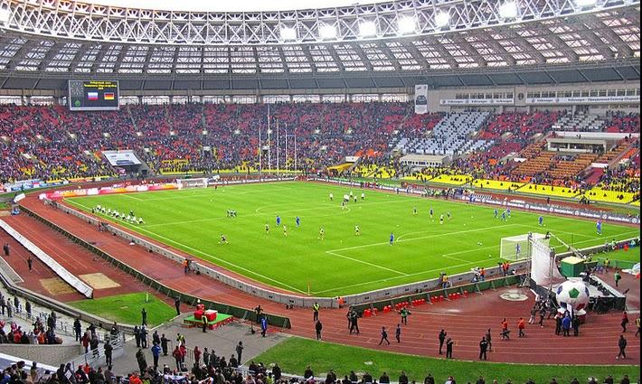 grama sintética para fútbol es tendencia en estadio Luzhniki Stadium Russia