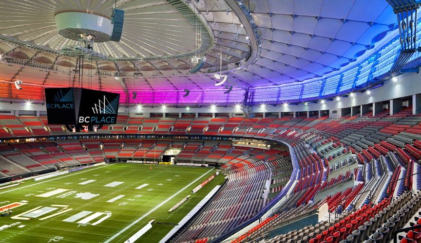 grama sintética para fútbol es tendencia en estadio de canada BC Place Stadium