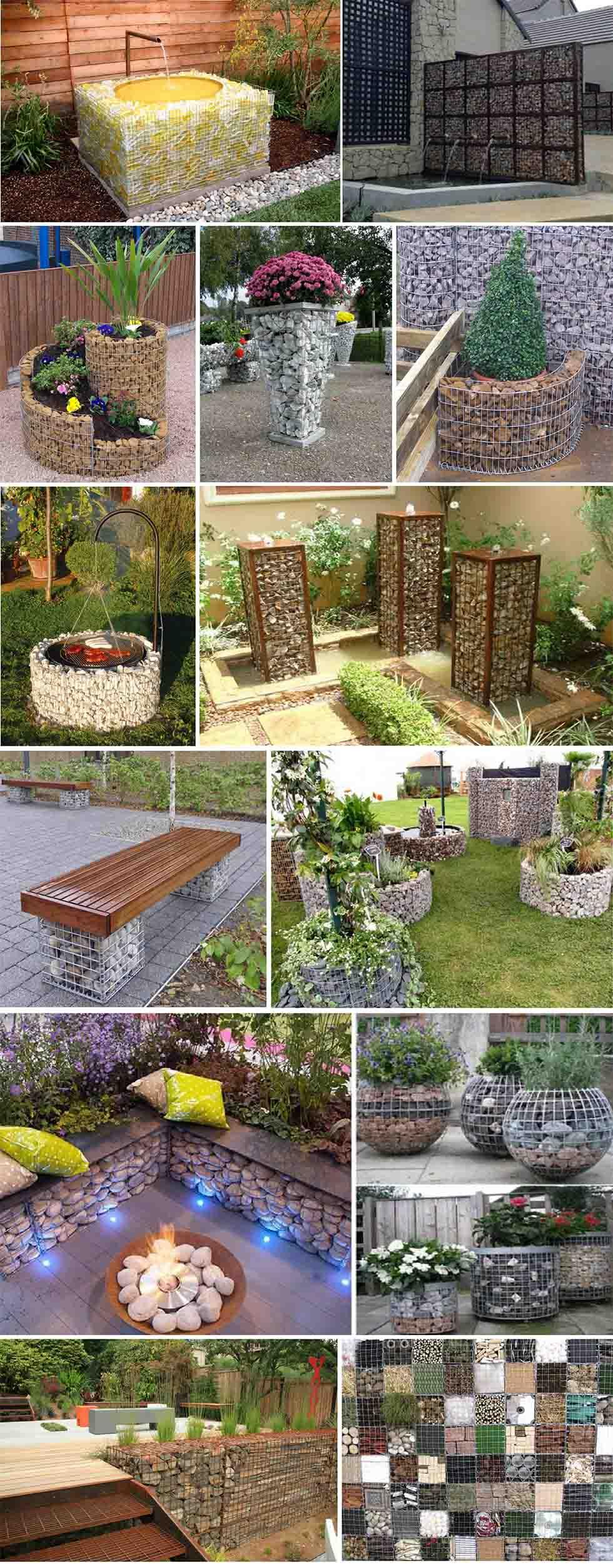 gaviones decorativos para jardines