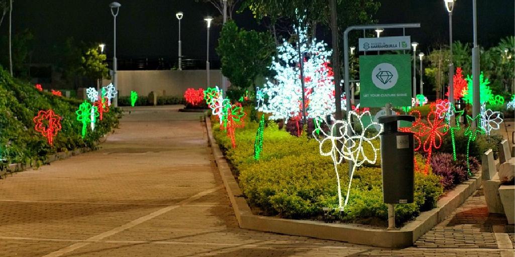 Alumbrados navideños en los parques infantiles yplazas de Barranquilla