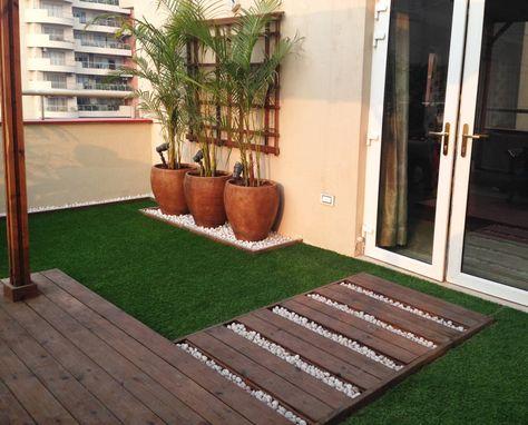 ideas de decoraciones en el hogar con grama sintetica