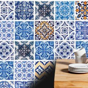 ideas de renovaciones en el hogar con stickers de azulejos