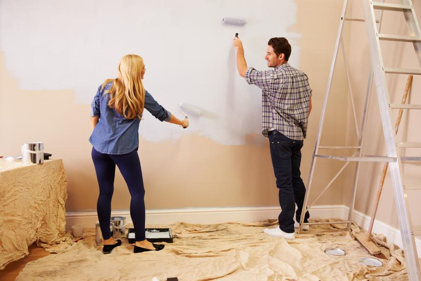 ideas de renovaciones en el hogar con pintura