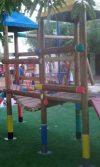 Instalación parque de madera en Sabanagrande