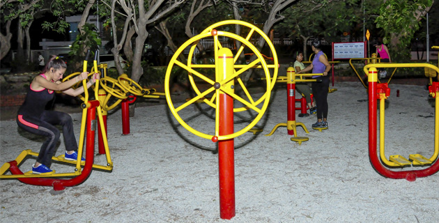 parques biosaludables en Barranquilla, parque el golf