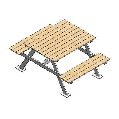 mobiliario urbano para parques mesa de picnic