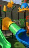 Instalación Playground Supercastillo y grama paisajista en la Moringa - Soledad conoce los beneficios de la recreación para los niños