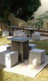 bancas ajedrez Colegio Alemán