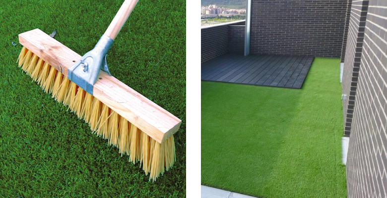 cómo limpiar grama sintética