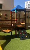 instalación parque de madera Margaret - Barranquilla