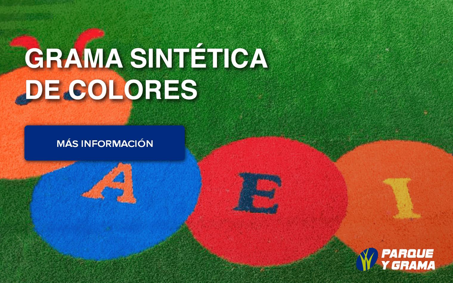 grama sintética de colores para parque infantil