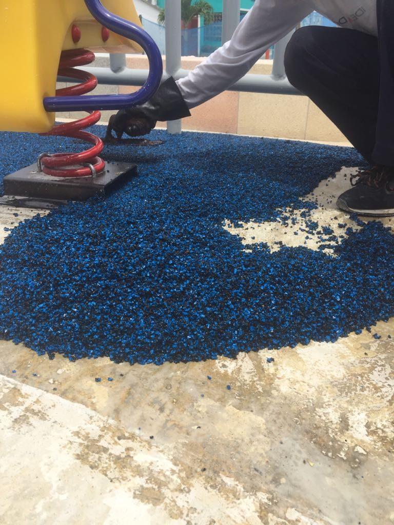 pisos de caucho granulado de caucho reciclado
