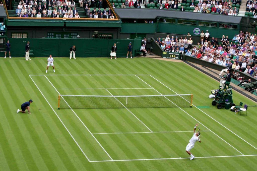 tipos de canchas, cancha de tenis al aire libre