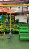 parque infantil, set de columpios, set de sube y baja y carrusel Colegio Sagrada Familia