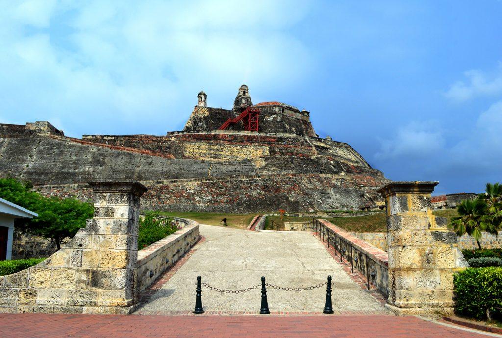 Obras arquitectónicas en Colombia Castillo de San Felipe de Barajas en Cartagena
