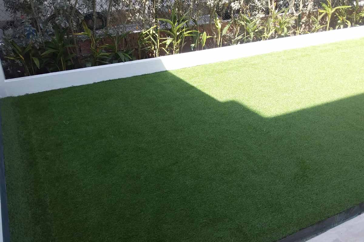 Instalación de grama sintética de 25mm – Cartagena