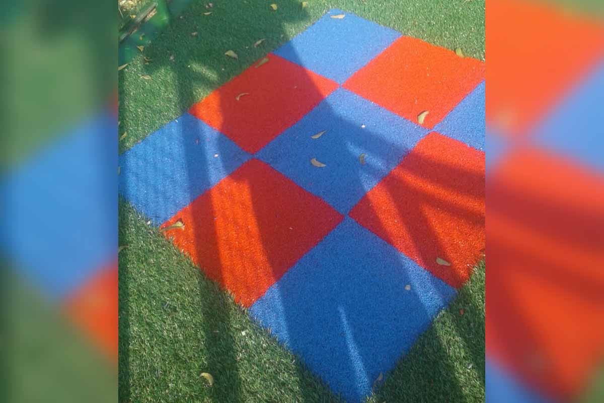Instalación grama sintética 25mm Soledad